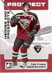 2006-07 ITG Heroes and Prospects #197 Cody Franson