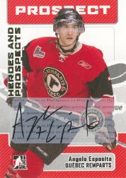 2006-07 ITG Heroes and Prospects Autographs #AAE Angelo Esposito
