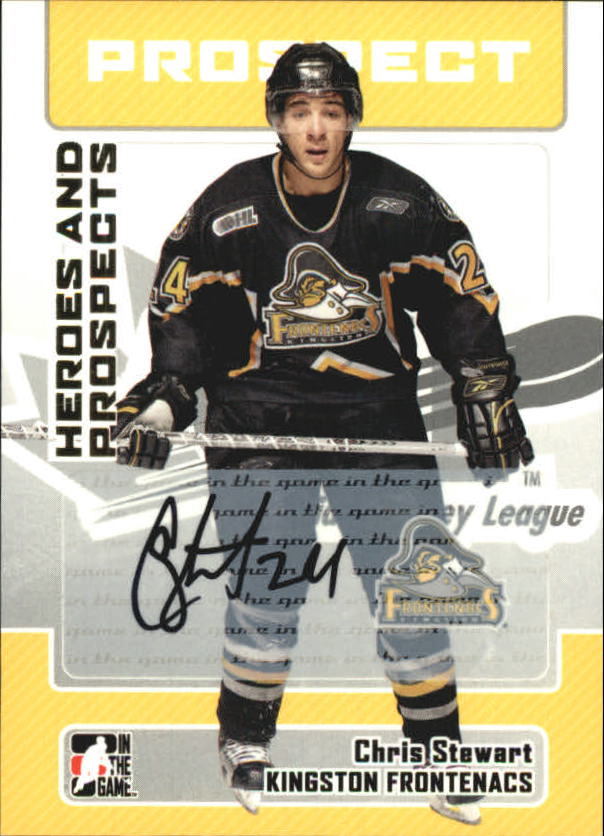 2006-07 ITG Heroes and Prospects Autographs #ACS Chris Stewart