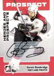 2006-07 ITG Heroes and Prospects Autographs #AGB Garett Bembridge