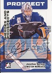 2006-07 ITG Heroes and Prospects Autographs #AJB1 Jonathan Bernier