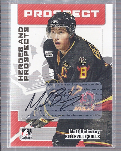 2006-07 ITG Heroes and Prospects Autographs #AMBL Matt Beleskey