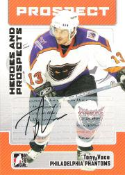2006-07 ITG Heroes and Prospects Autographs #ATV Tony Voce