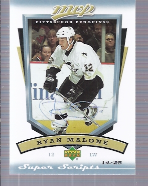2006-07 Upper Deck MVP Super Script #239 Ryan Malone