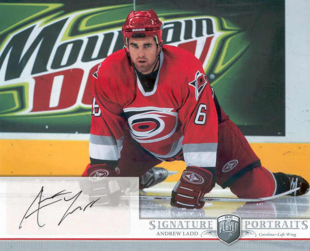 2006-07 Be A Player Portraits Signature Portraits #SPAL Andrew Ladd