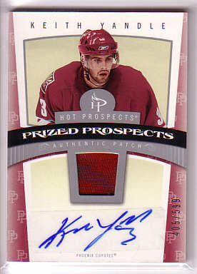 2006-07 Hot Prospects #127 Keith Yandle JSY AU RC