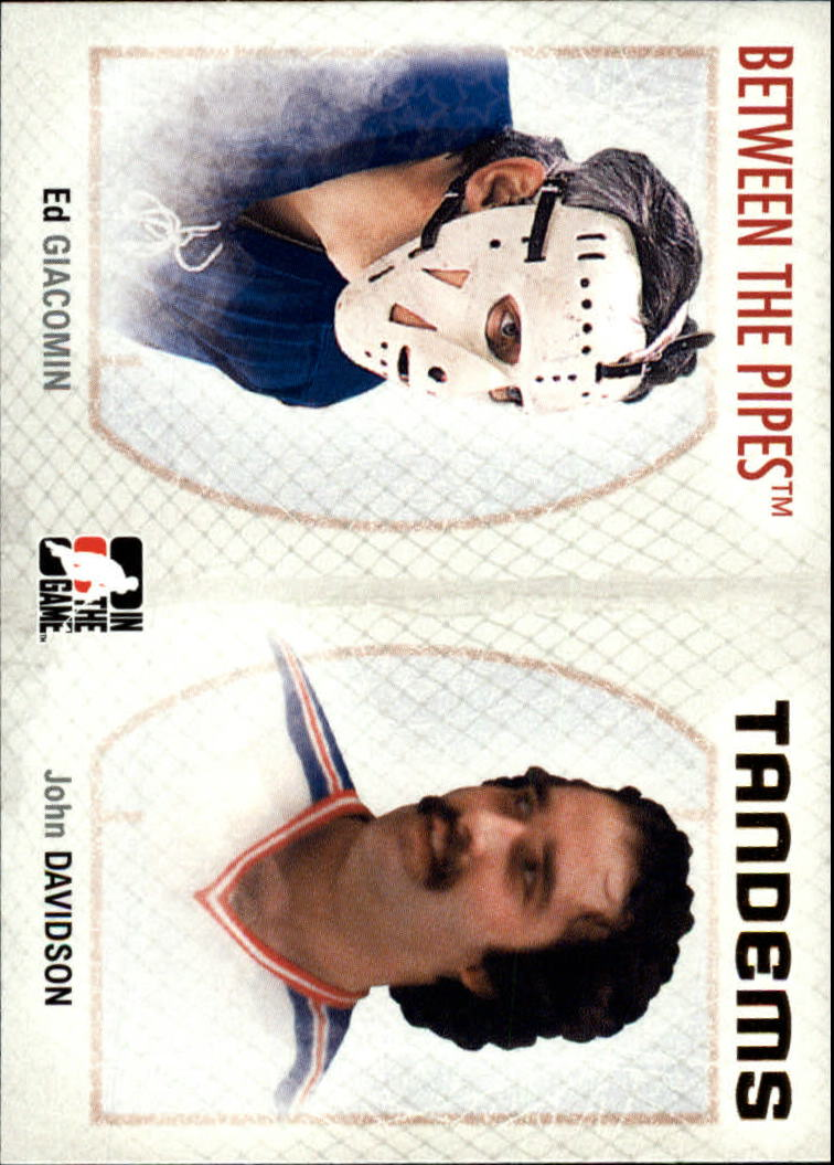 2006-07 Between The Pipes #140 Ed Giacomin/John Davison