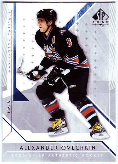 2006-07 SP Authentic #1 Alexander Ovechkin front image