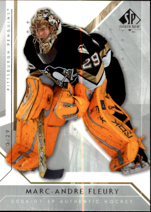 2006-07 SP Authentic #21 Marc-Andre Fleury