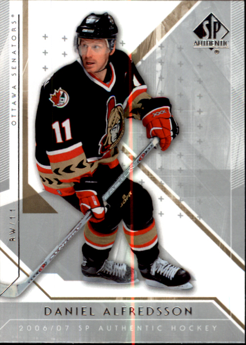 2006-07 SP Authentic #33 Daniel Alfredsson