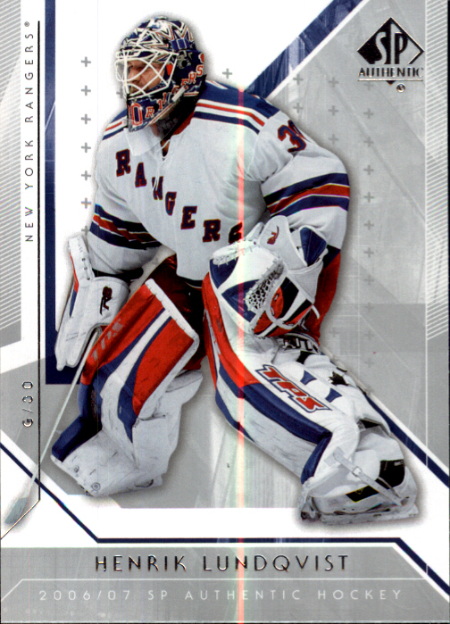 2006-07 SP Authentic #38 Henrik Lundqvist front image
