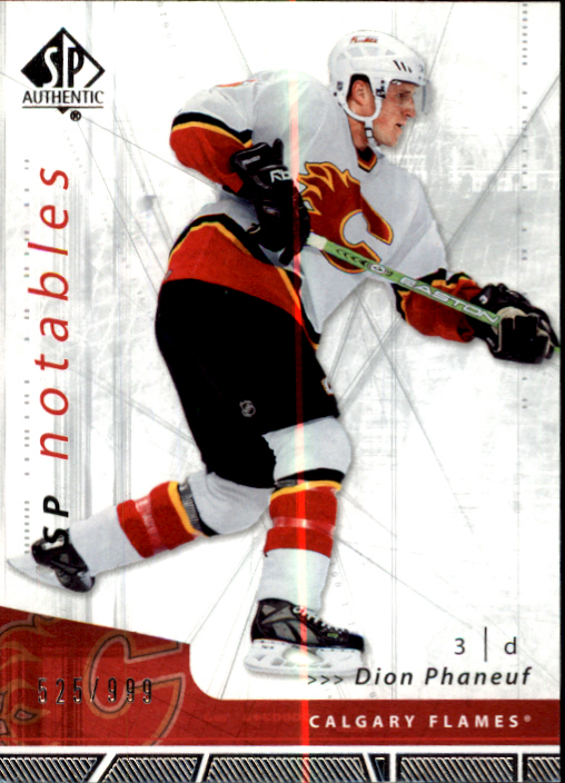 2006-07 SP Authentic #109 Dion Phaneuf N
