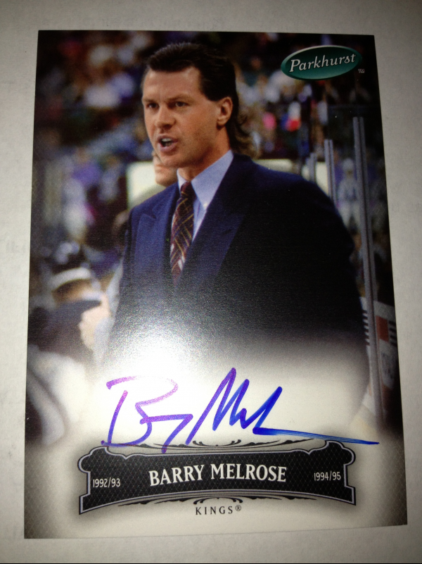 2006-07 Parkhurst Autographs #76 Barry Melrose