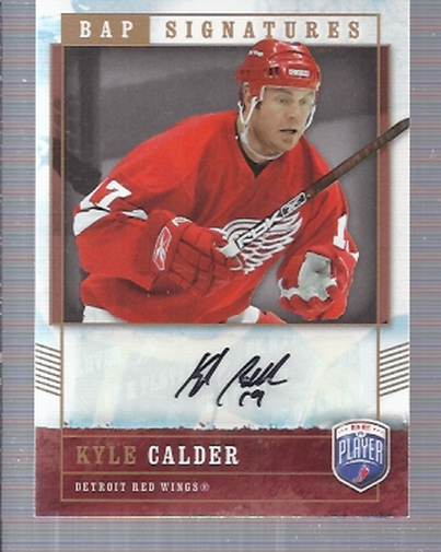 2006-07 Be A Player Signatures #KC Kyle Calder