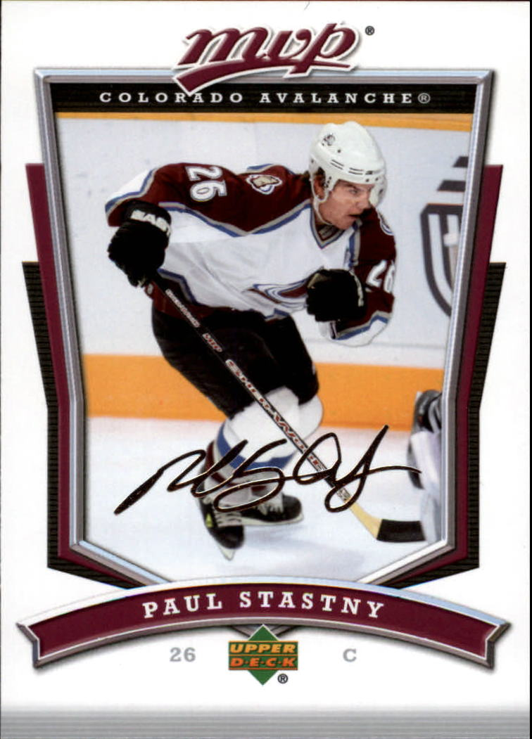 2007-08 Upper Deck MVP #6 Paul Stastny