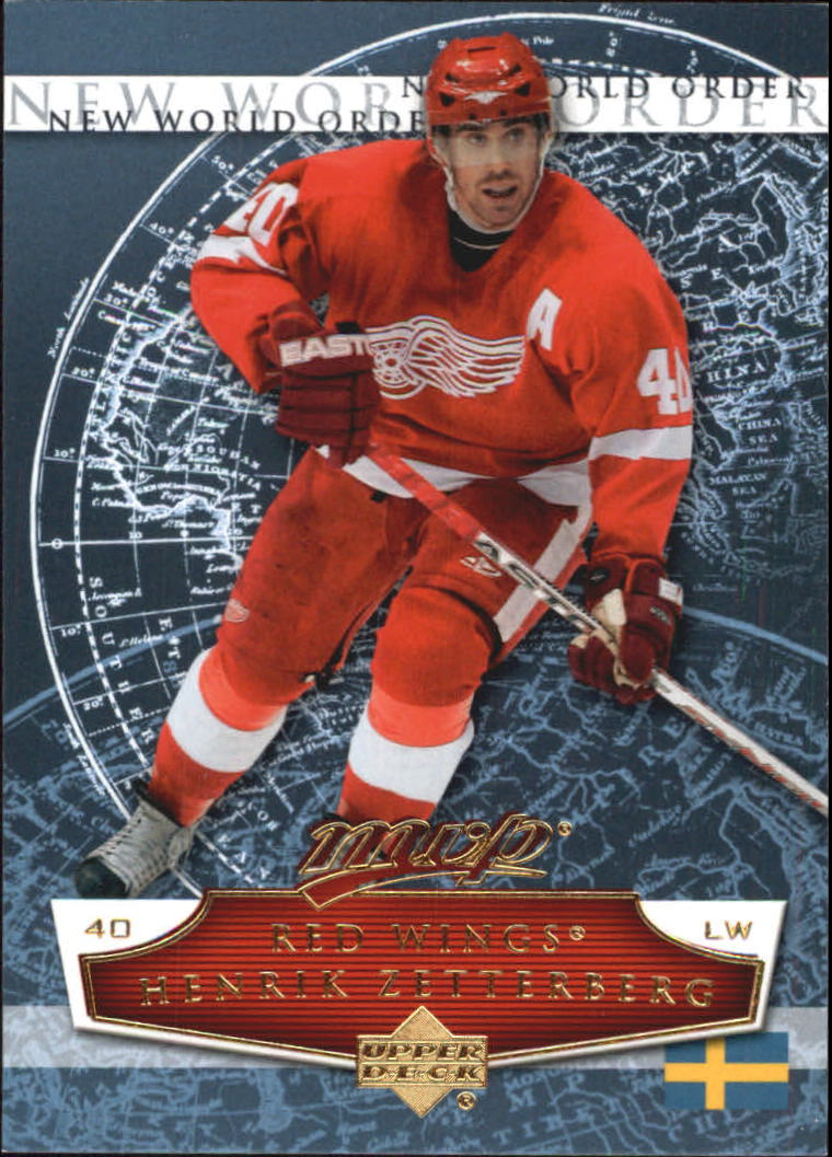 2007-08 Upper Deck MVP New World Order #NW8 Henrik Zetterberg
