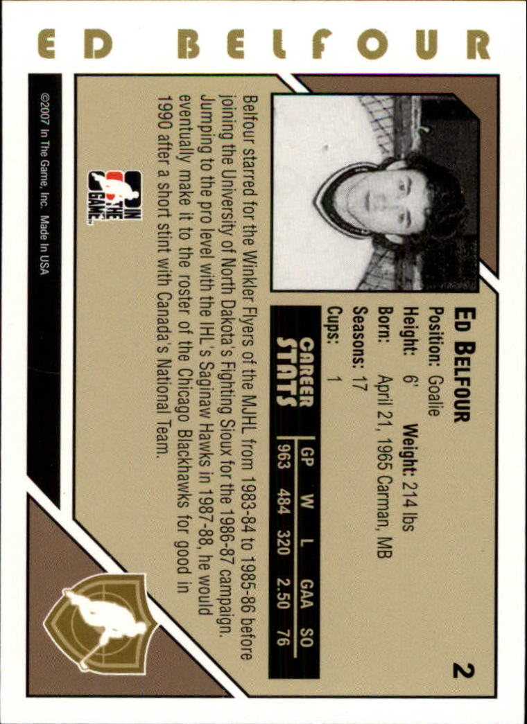 2007-08 ITG Heroes and Prospects #2 Ed Belfour back image