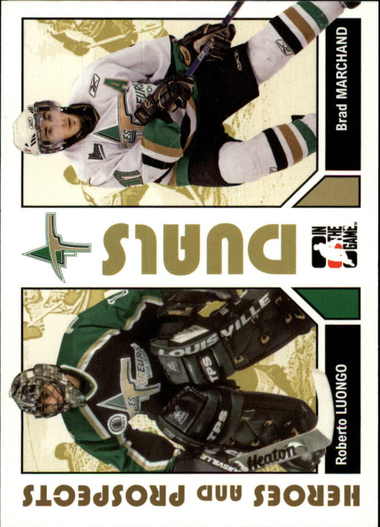 2007-08 ITG Heroes and Prospects #99 Roberto Luongo/Brad Marchand