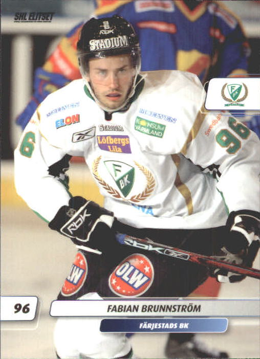 2007-08 Swedish SHL Elitset #192 Fabian Brunnstrom
