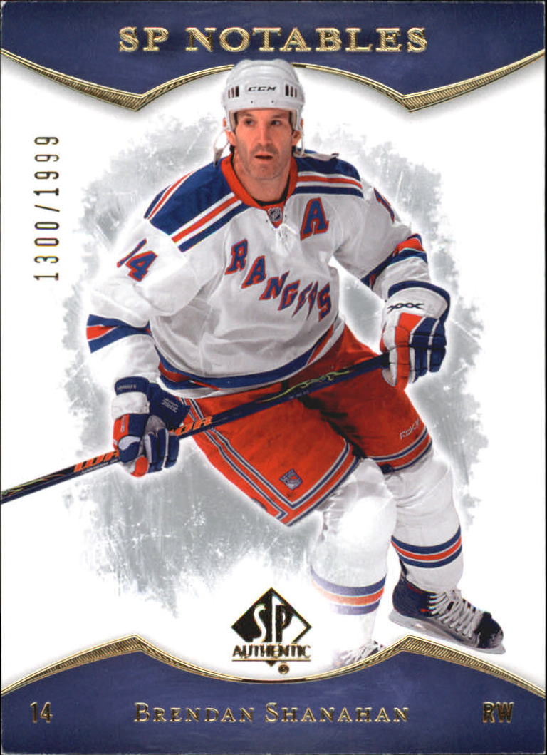 2007-08 SP Authentic #124 Brendan Shanahan NOT