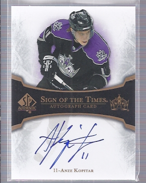 2007-08 SP Authentic Sign of the Times #STAK Anze Kopitar