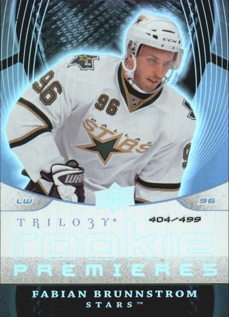 2008-09 Upper Deck Trilogy #169 Fabian Brunnstrom RC