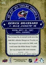 2008-09 Artifacts #201 Derick Brassard RC