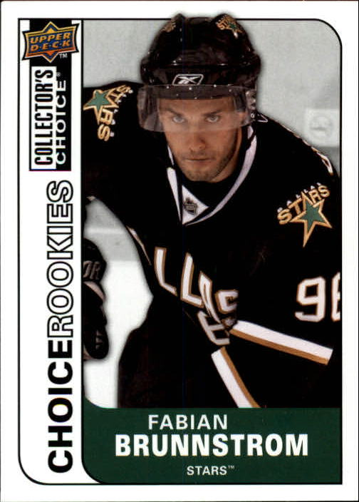 2008-09 Collector's Choice #207 Fabian Brunnstrom RC