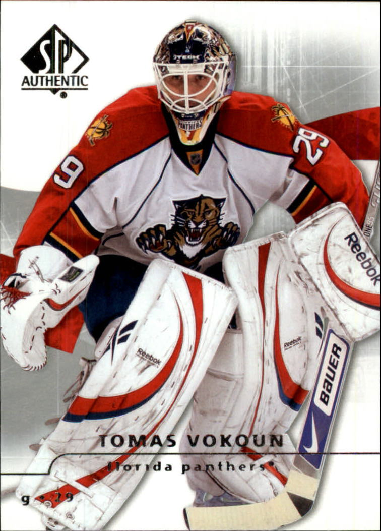 2008-09 SP Authentic #6 Tomas Vokoun