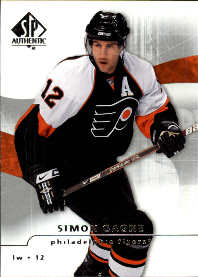 2008-09 SP Authentic #9 Simon Gagne