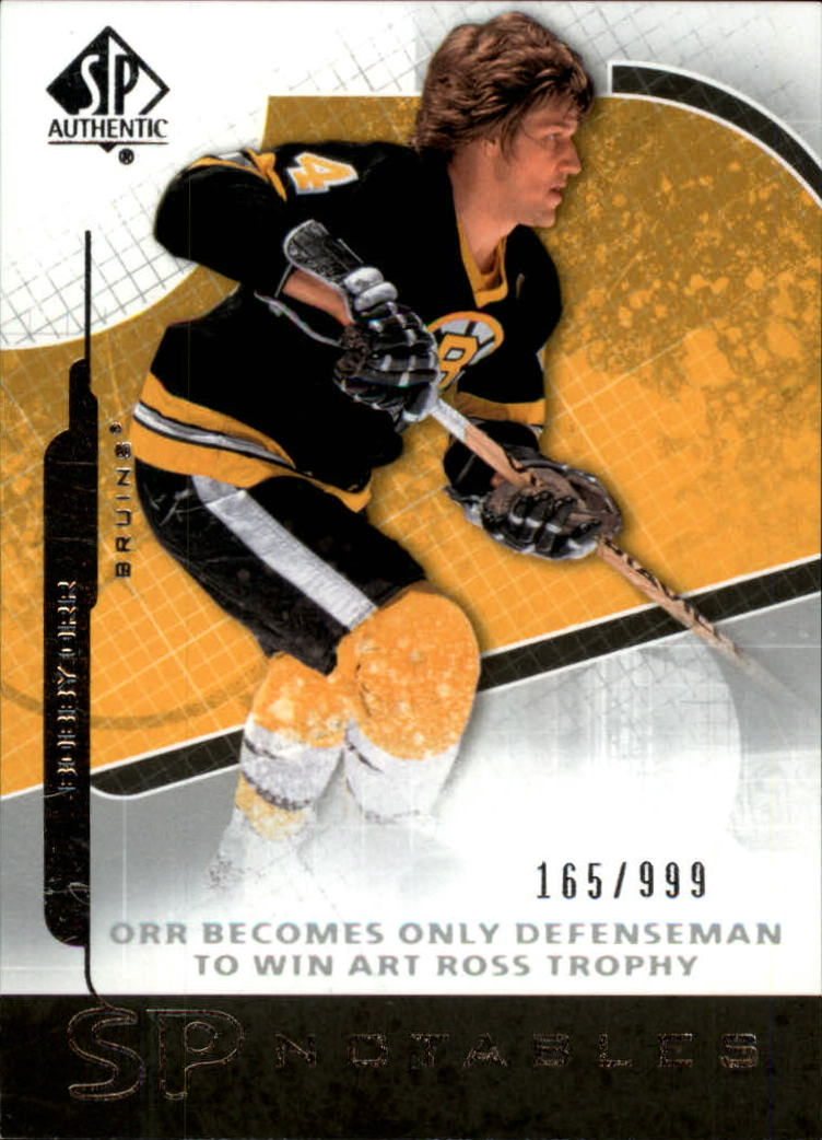 2008-09 SP Authentic #105 Bobby Orr N