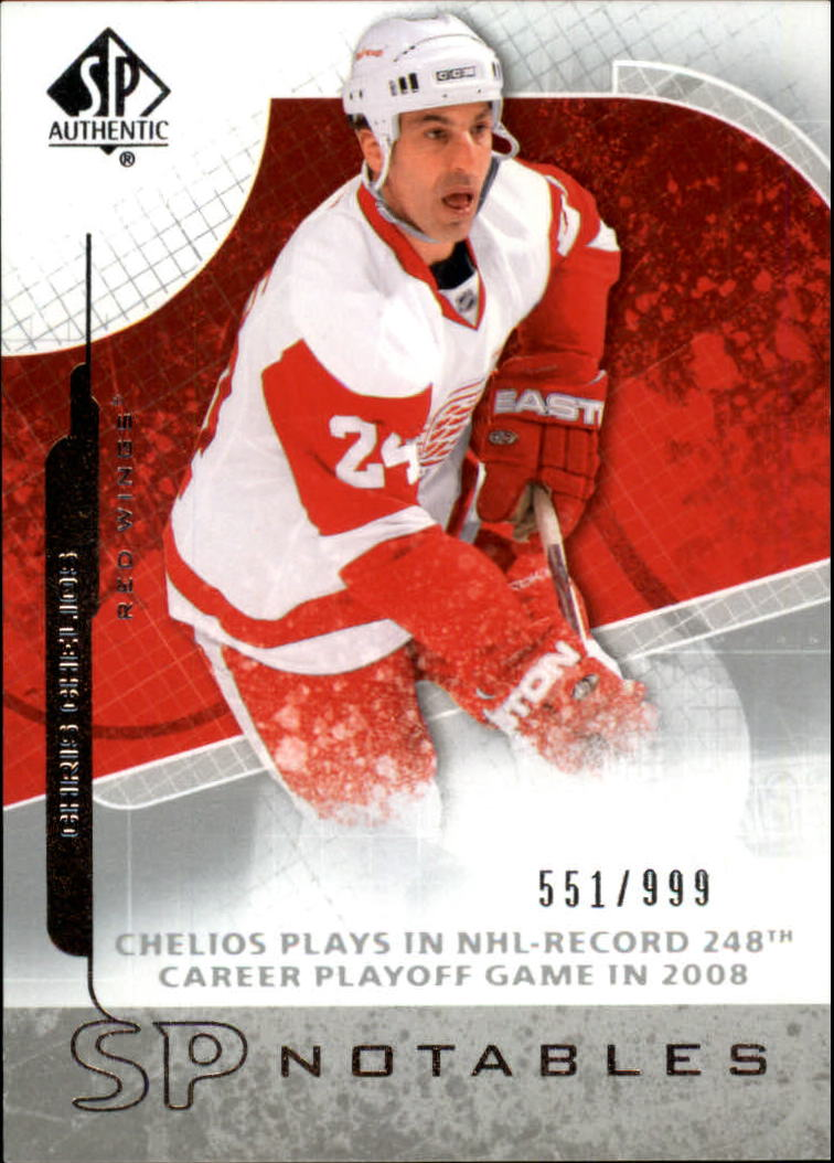 2008-09 SP Authentic #108 Chris Chelios N