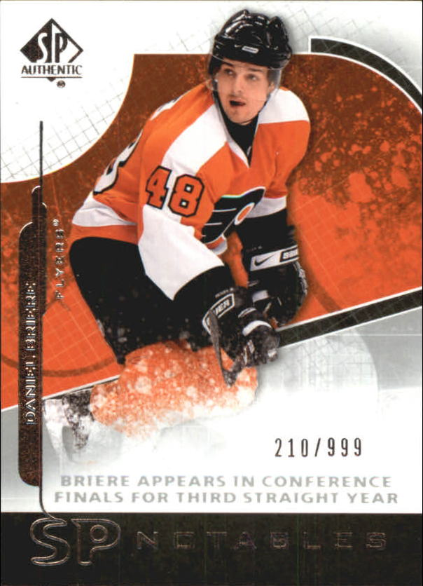 2008-09 SP Authentic #109 Daniel Briere N