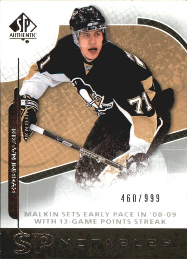 2008-09 SP Authentic #111 Evgeni Malkin N