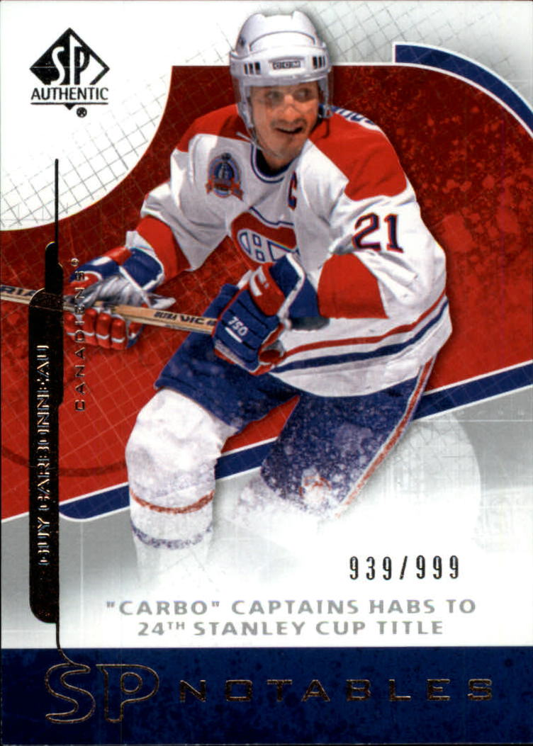 2008-09 SP Authentic #112 Guy Carbonneau N