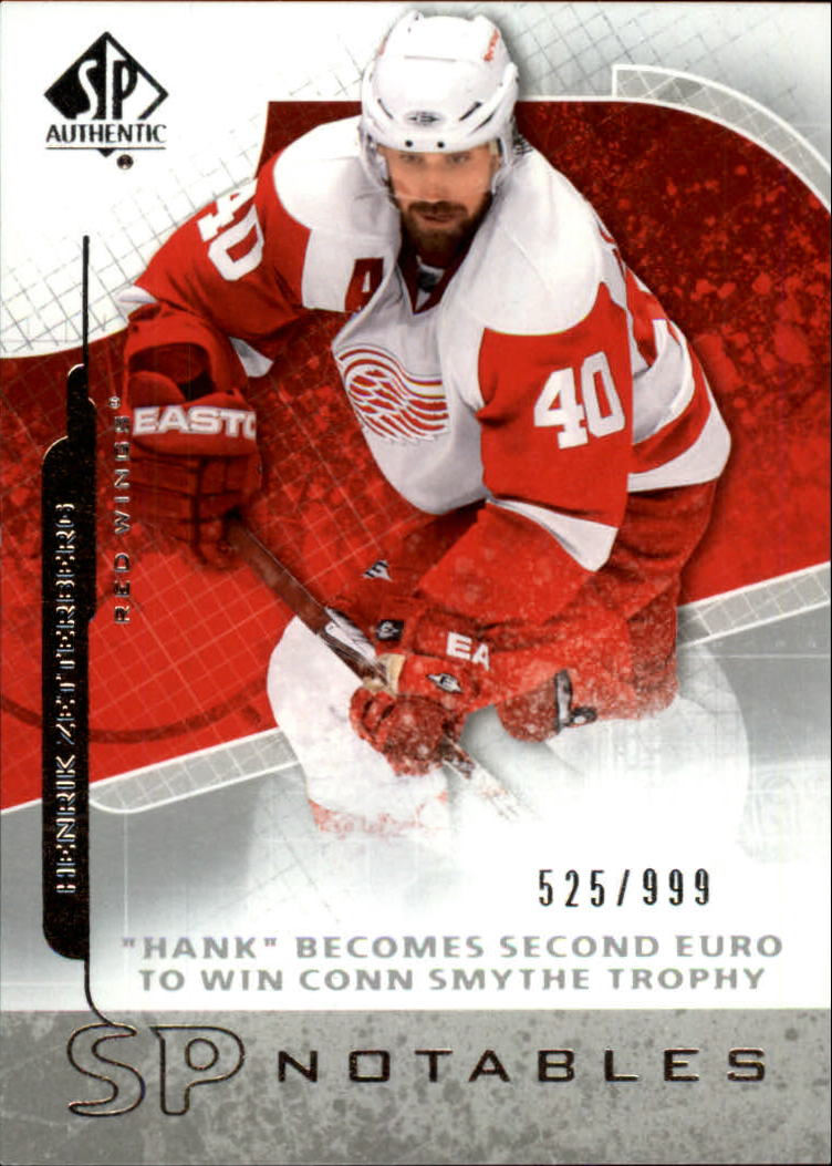 2008-09 SP Authentic #117 Henrik Zetterberg N