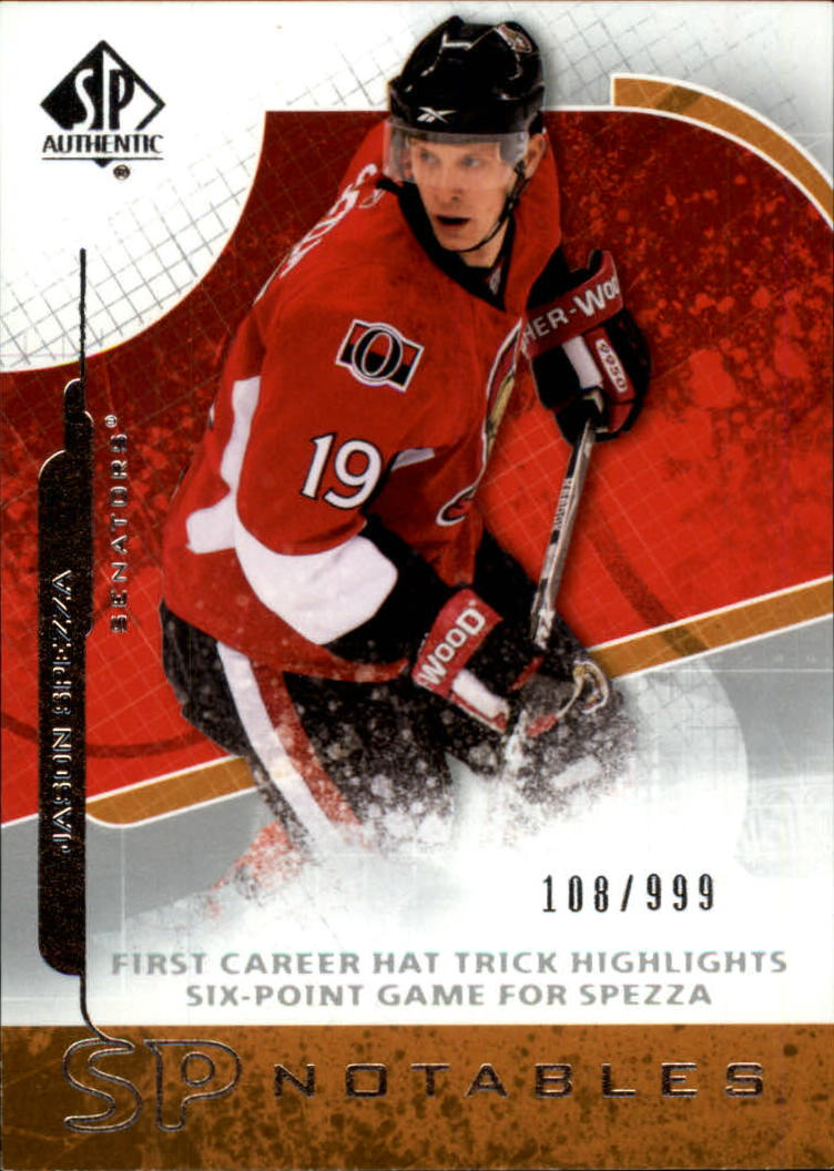 2008-09 SP Authentic #119 Jason Spezza N