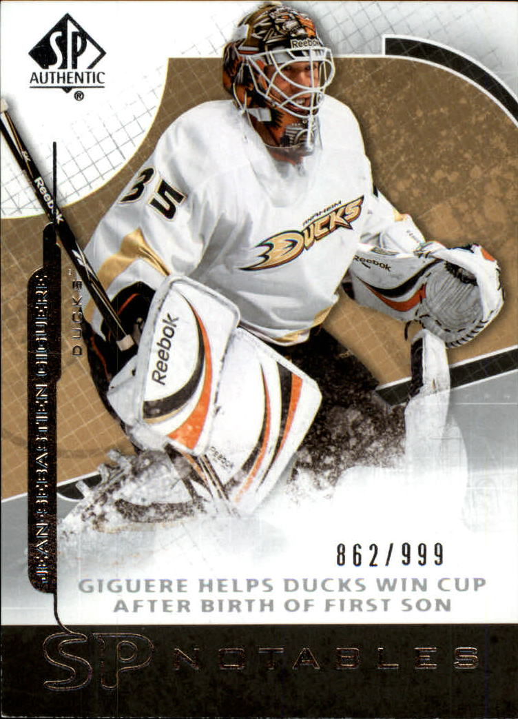 2008-09 SP Authentic #120 Jean-Sebastien Giguere N