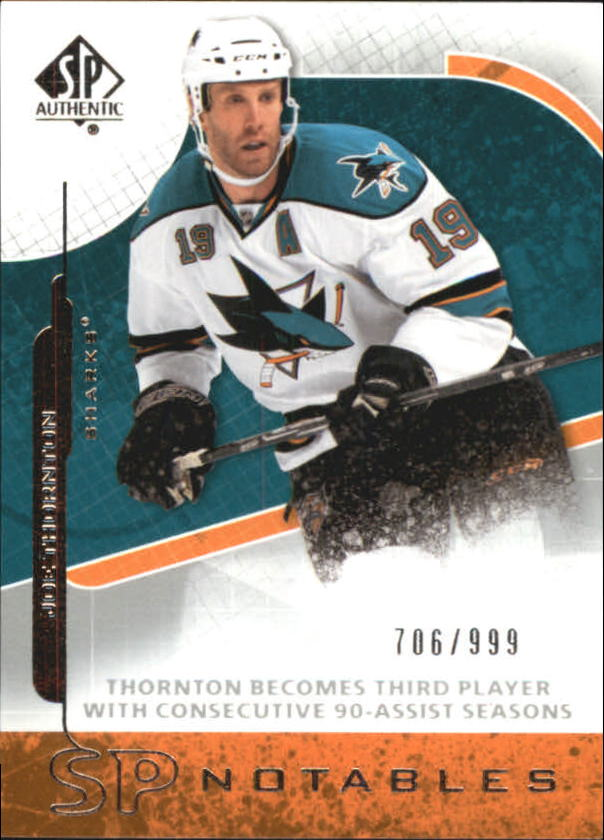 2008-09 SP Authentic #122 Joe Thornton N