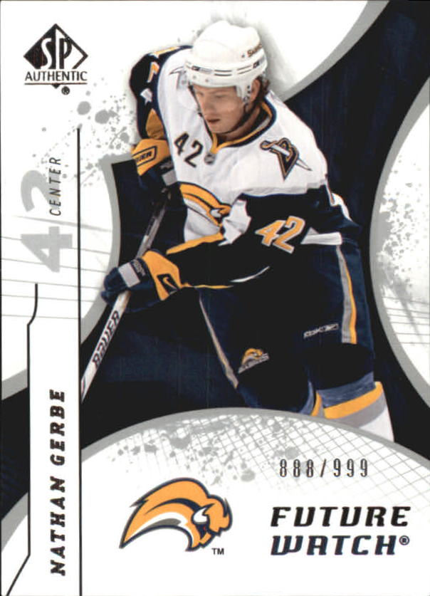 2008-09 SP Authentic #173 Nathan Gerbe RC