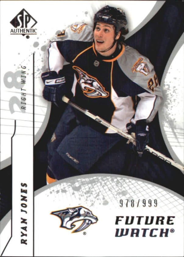 2008-09 SP Authentic #185 Ryan Jones RC