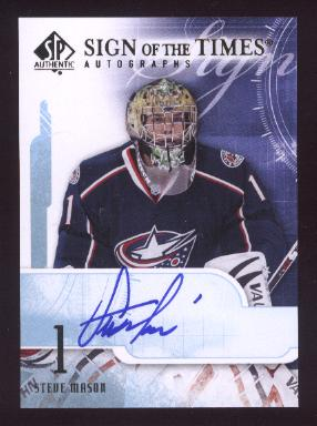 2008-09 SP Authentic Sign of the Times #STSM Steve Mason