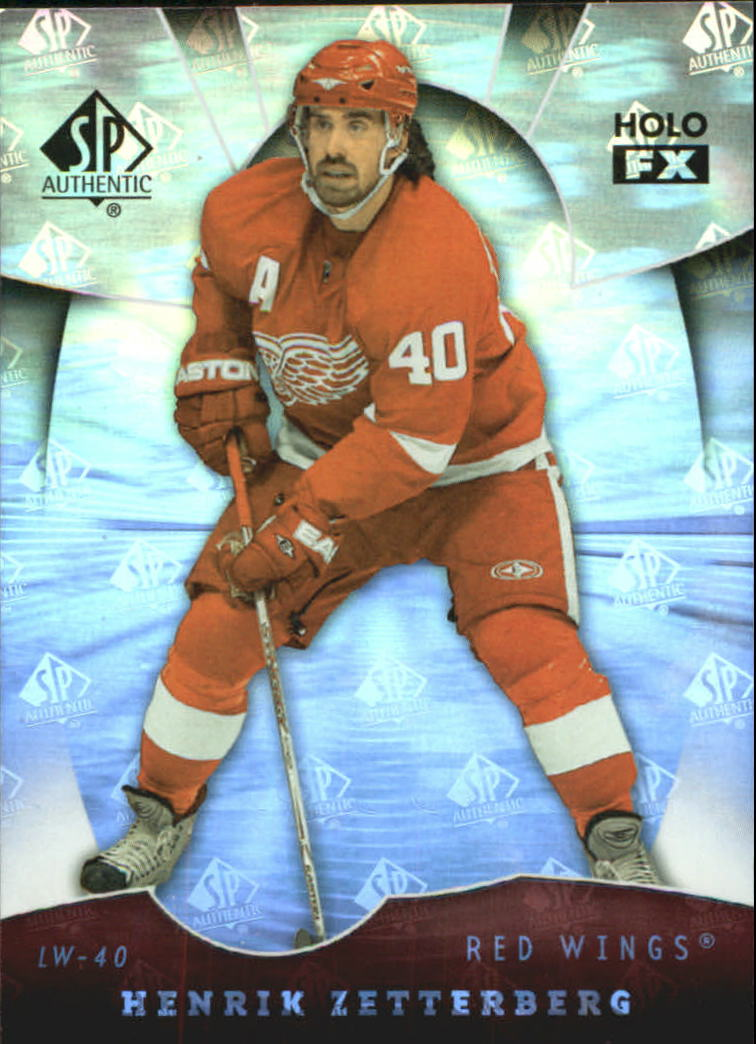 2008-09 SP Authentic Holoview FX #FX57 Henrik Zetterberg
