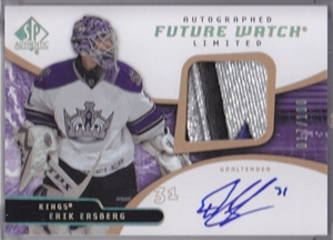 2008-09 SP Authentic Limited Autographed Patches #210 Erik Ersberg