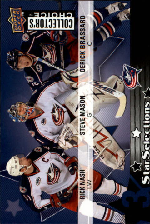 2009-10 Collector's Choice #209 Derick Brassard/Steve Mason/Rick Nash