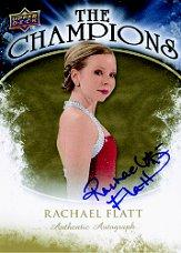 2009-10 Upper Deck The Champions Autographs Gold #CHRF Rachael Flatt