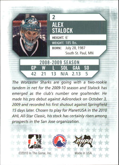 2009-10 Between The Pipes #2 Alex Stalock