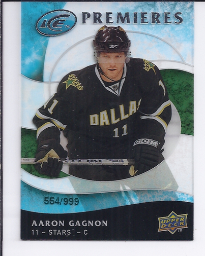 2009-10 Upper Deck Ice #127 Aaron Gagnon RC