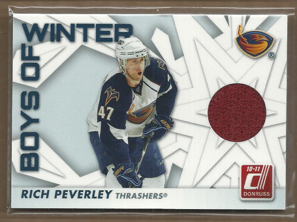2010-11 Donruss Boys of Winter Threads #37 Rich Peverley