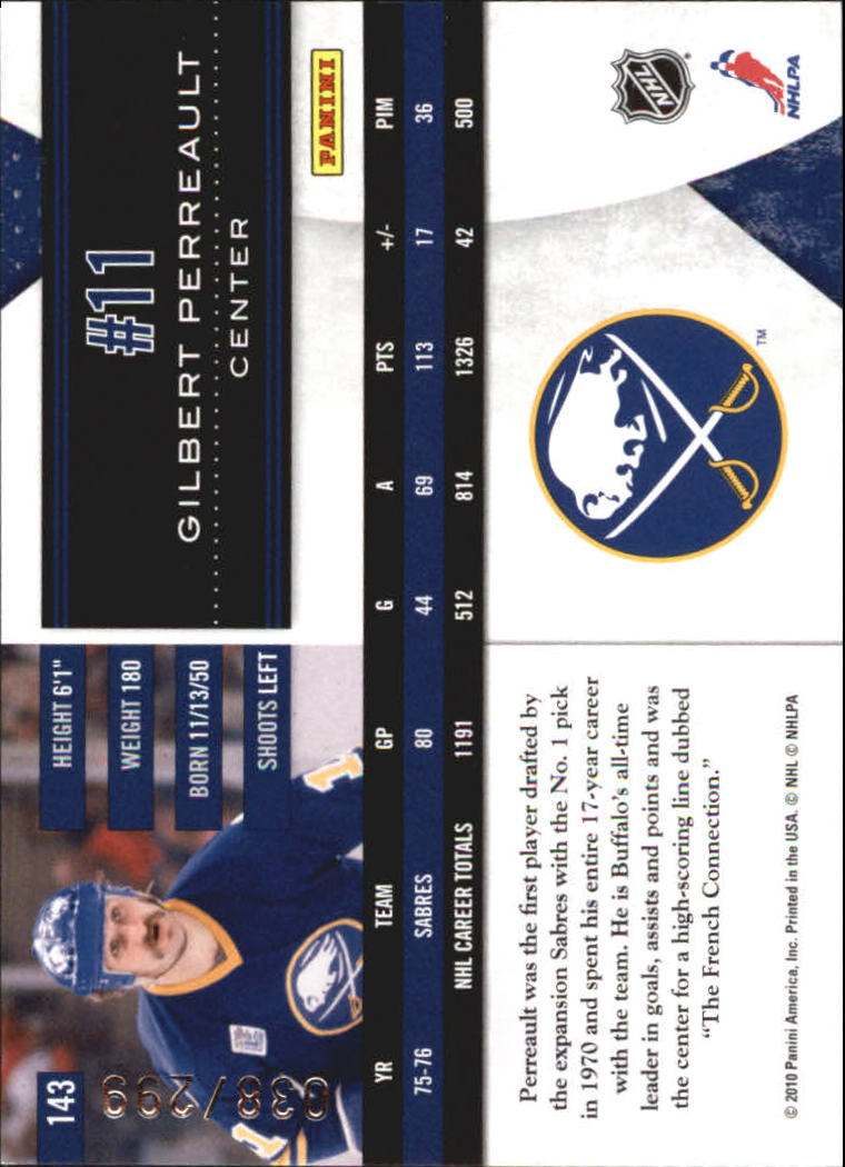 2010-11 Limited #143 Gilbert Perreault L back image